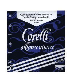 Corelli Alliance Vivace 4/4 Violin String Set Medium with ball E